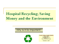 View Hospital Recycling Powerpoint